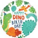 Balon foliowy Happy Birthday Dinozaury 17cali 43cm