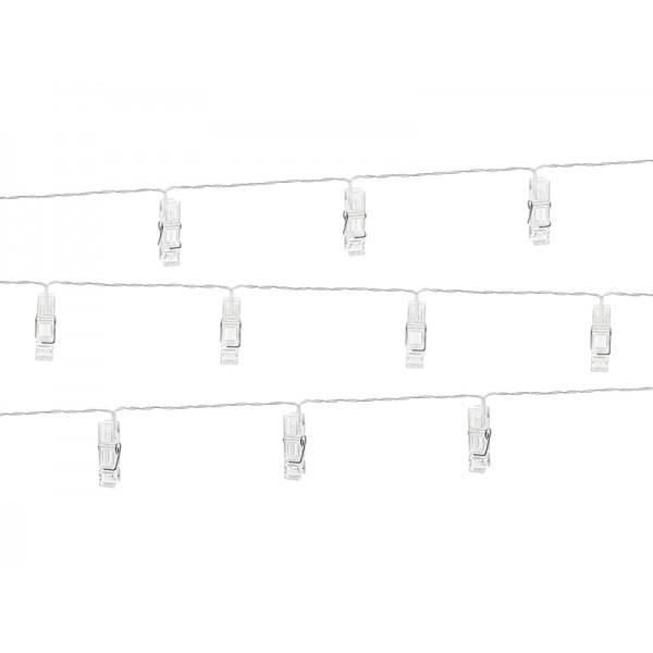 Lampki Led klamerki bezbarwne 140cm