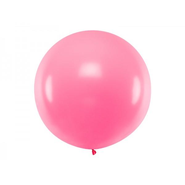 Balon Gigant pastelowy różowy 1m