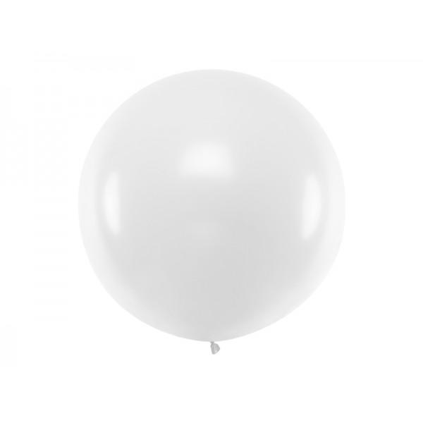 Balon Gigant pastelowy biały 1metr