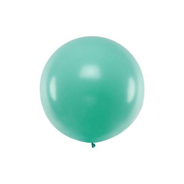 Balon Gigant pastelowy leśna zieleń 1metr