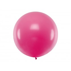 Balon Gigant pastelowy fuksja 1metr