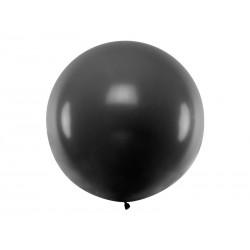 Balon Gigant pastelowy czarny 1metr