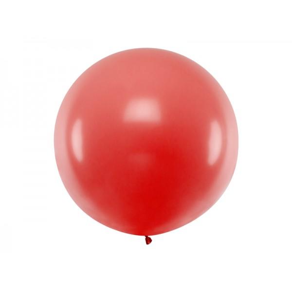 Balon Gigant pastelowy czerwony 1metr