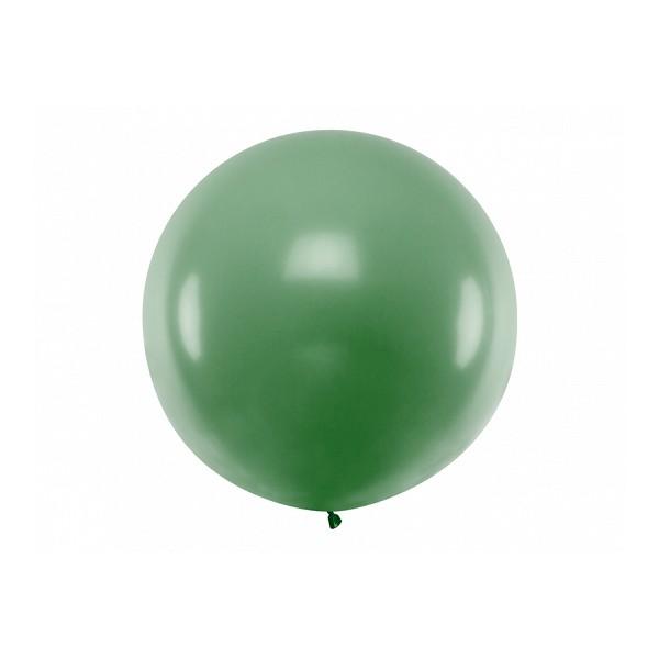 Balon Gigant pastelowy ciemnozielony 1metr
