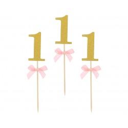 Piki na Roczek różowe 10szt