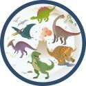 Talerzyki papierowe Dinozaury 18cm 8szt