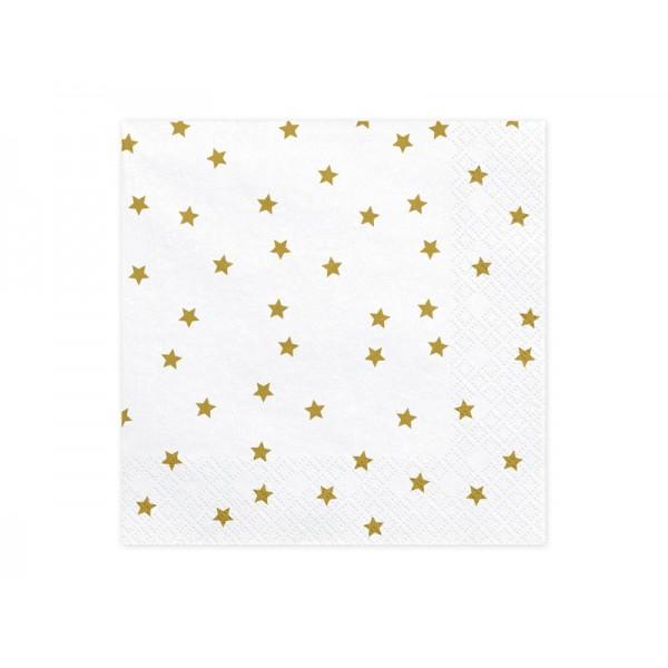 Serwetki papierowe Gwiazdki złote 33x33cm 20szt