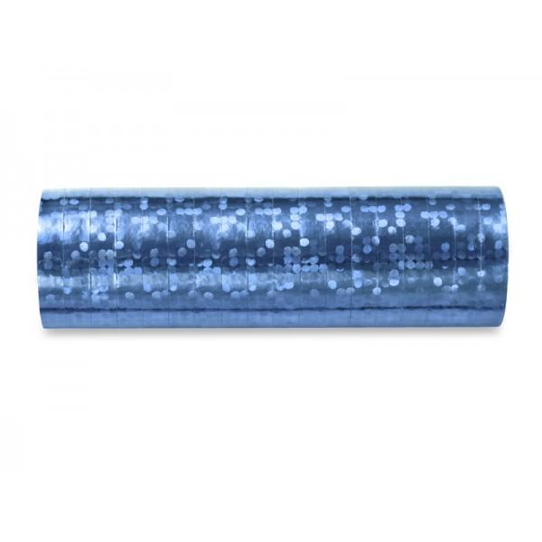 Serpentyny holograficzne błękitne 3,8m 18szt