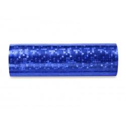Serpentyny holograficzne niebieskie 3,8m 18szt