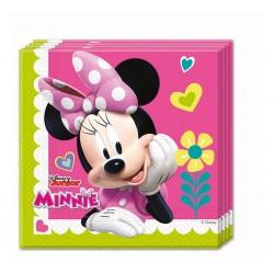 Serwetki papierowe Myszka Minnie różowe 33x33cm 20szt