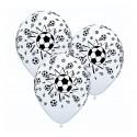 Balony pastelowe Piłka Nożna białe 12cali 30cm 5szt