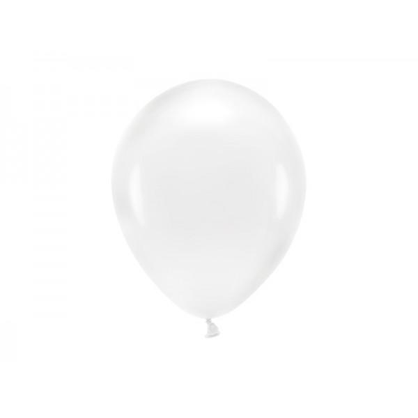 Balony metaliczne transparentne 11cali 26cm 10szt