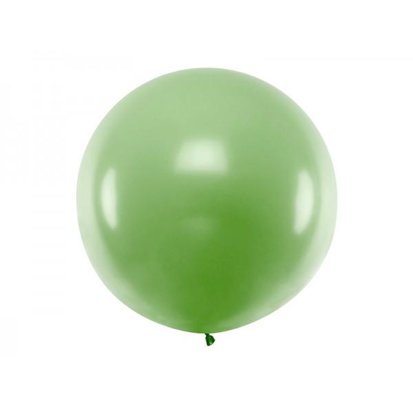 Balon Gigant pastelowy zielony 1metr