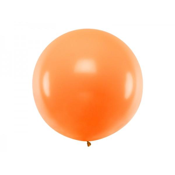 Balon Gigant pastelowy pomarańczowy 1metr