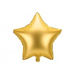 Balon foliowy satynowy Gwiazdka złoty 19cali 48cm