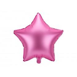 Balon foliowy satynowy Gwiazdka różowy 19cali 48cm