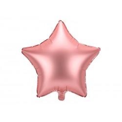 Balon foliowy satynowy Gwiazdka rose gold 19cali 48cm