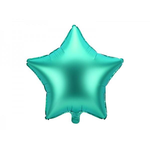 Balon foliowy satynowy Gwiazdka zielona 19cali 48cm