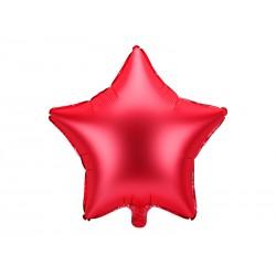 Balon foliowy satynowy Gwiazdka czerwona 19cali 48cm