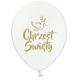 Balony pastelowe Chrzest Święty białe 12cali 30cm 5szt