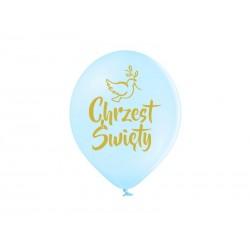 Balony pastelowe Chrzest Święty błękitne 12cali 30cm 25szt