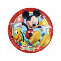 Talerzyki papierowe Myszka Mickey 20cm 8szt