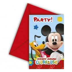 Zaproszenia Myszka Mickey 6szt