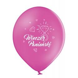 Balony pastelowe na Wieczór Panieński różowe 12cali 30cm 6szt