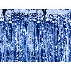 Kurtyna metalizowana niebieska 250x90cm