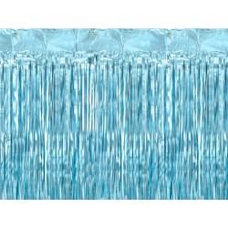 Kurtyna metalizowana błękitna 250x90cm