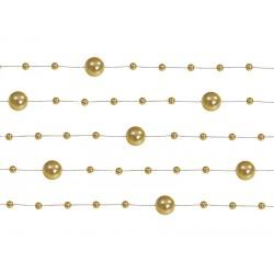 Girlandy dekoracyjne złote 130cm 5szt