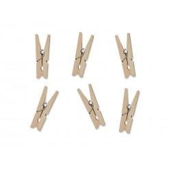 Klamerki drewniane naturalne drewno 3cm 20szt