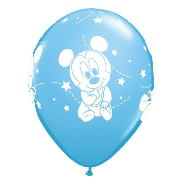 Balony niebieskie Mała Myszka Miki 30cm 6szt