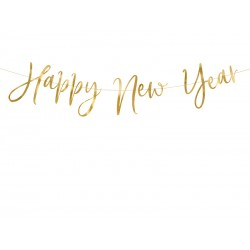 Baner Happy New Year złoty 66cm