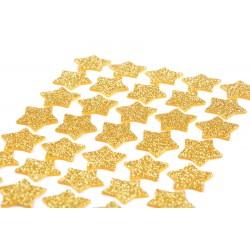 Naklejki brokatowe Gwiazdki złote 50szt