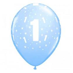 Balony pastelowe na Roczek niebieskie 12cali 30cm 6szt