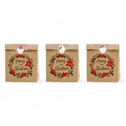 Torebki na prezenty Merry Little Christmas 3szt