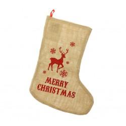 Skarpeta na świąteczny prezent Renifer