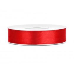 Tasiemka satynowa czerwona 12mmx25m