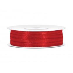 Tasiemka satynowa czerwona 3mmx50m