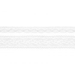 Koronki bawełniane białe 2szt