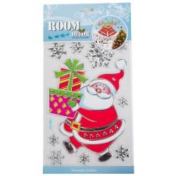 Naklejki na szybę Mikołaj z prezentami
