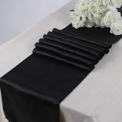 Satyna bieżnik czarny 36cmx9m rolka