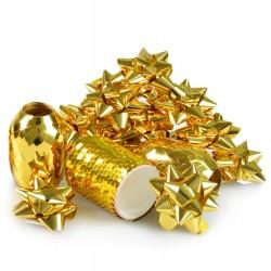 Zestaw do pakowania prezentów złoty 16szt