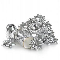 Zestaw do pakowania prezentów srebrny 16szt