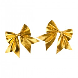 Zestaw kokard metalizowanych złotych 2szt