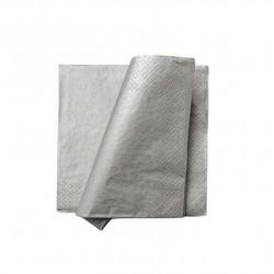Serwetki papierowe metaliczne srebrne 33x33cm 20szt