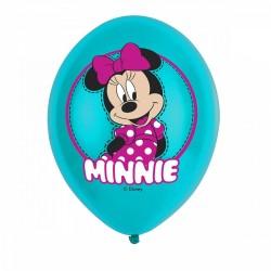 Balony lateksowe Myszka Minnie 11cali 27,5cm 6szt