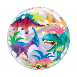 Balon foliowy Dinozaury transparentny 22cali 56cm